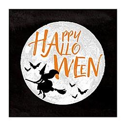 Happy Halloween Moon 16-Inch x 16-Inch Canvas Wall Art