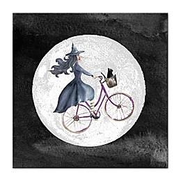 Witch Bike 16-Inch x 16-Inch Canvas Wall Art