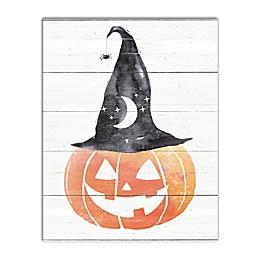 Designs Direct Jack o' Lantern Witch Canvas Wall Art