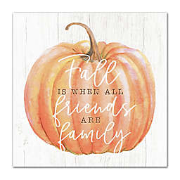Designs Direct Fall Family 16-Inch Square Canvas Wall Art in Orange