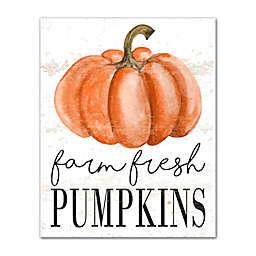 Designs Direct Farm Fresh Pumpkins 16-Inch x 20-Inch Canvas Wall Art in Orange