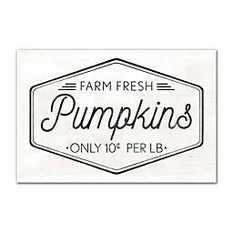 Designs Direct Farm Fresh Pumpkins 16-Inch x 24-Inch Canvas Wall Art in Black
