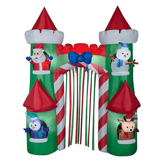 Alternate image 1 for Santa Castle Archway 9-Foot Inflatable