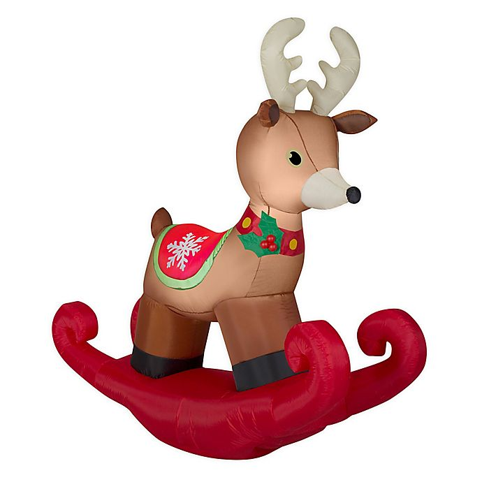 Alternate image 1 for Rocking Reindeer 6-Foot Inflatable