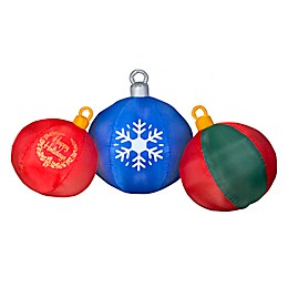 Round Ornament Scene 4-Foot Inflatable