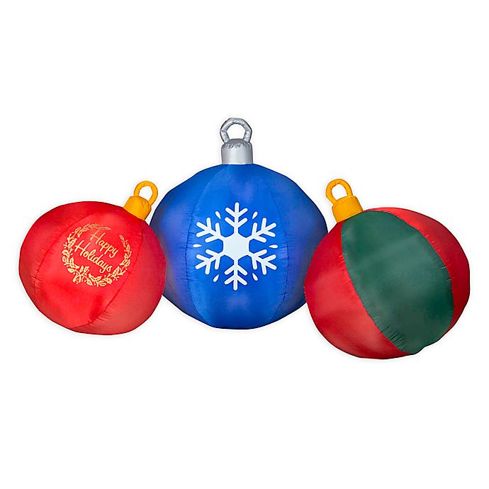 Alternate image 1 for Round Ornament Scene 4-Foot Inflatable