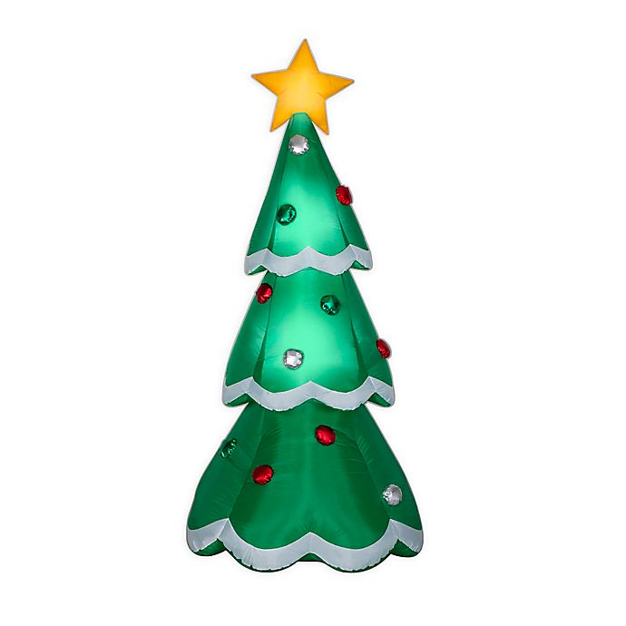 Alternate image 1 for Christmas Tree with Metallic Ornaments 7-Foot Inflatable