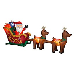 Santa and Sleigh 5-Foot Inflatable