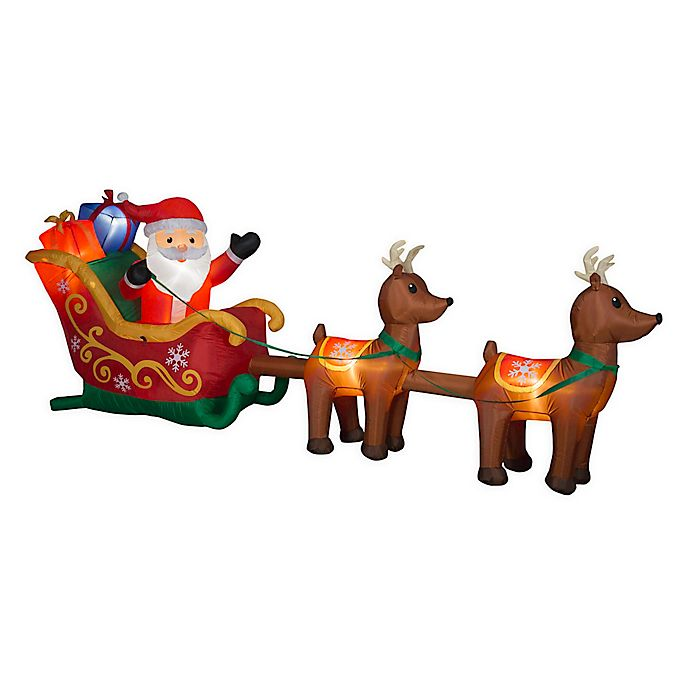 Alternate image 1 for Santa and Sleigh 5-Foot Inflatable