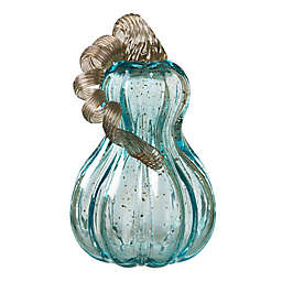 Glitzhome Decorative Glass Gourd in Blue