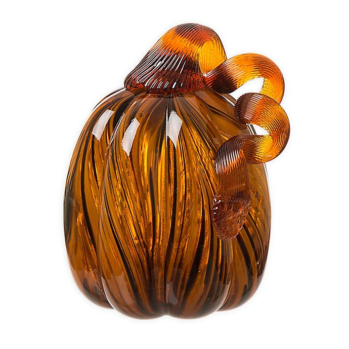 Alternate image 1 for 4-Inch Striped Glass Pumpkin