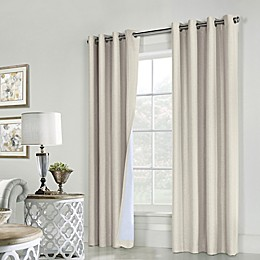 Commonwealth Home Fashions ThermaPlus Ventura Grommet Window Curtain Panel Pair