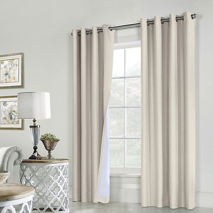 Alternate image 1 for Commonwealth Home Fashions ThermaPlus Ventura 2-Pack Grommet Window Curtain