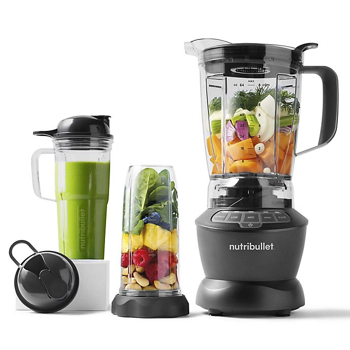 Alternate image 1 for NutriBullet® 1200-Watt Blender Combo with Single Serve Cups