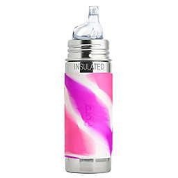 Pura Kiki® 9 oz. Stainless Steel Infant Bottle with Medium-Flow Nipple in White/Pink