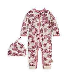 Burt's Bees Baby® 2-Piece Dancing Poppy Organic Cotton Jumpsuit and Hat Set