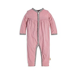 Burt's Bees Baby® Honeycomb Pointelle Organic Cotton Jumpsuit in Persian Rose