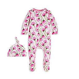 Burt's Bees Baby® 2-Piece Sprouted Poppy Jumpsuit and Knot Top Hat Set