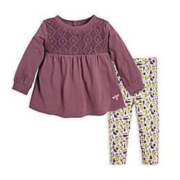 Burt's Bees Baby® Crochet Organic Cotton Tunic and Legging Set in Grape