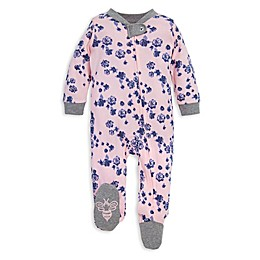 Burt's Bees Baby® Indigo Flowers Organic Cotton Footie in Pink