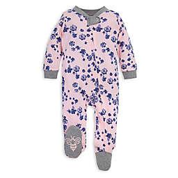 Burt's Bees Baby® Indigo Flowers Organic Cotton Footie in Pink