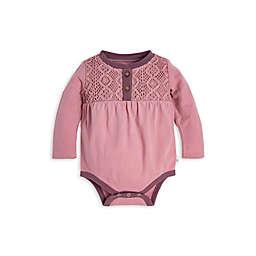 Burt's Bees Baby® Crochet Yoke Organic Cotton Bodysuit in Persian Rose