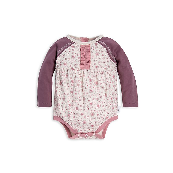 Alternate image 1 for Burt's Bees Baby® Organic Cotton In the Orchard Bodysuit in Ivory