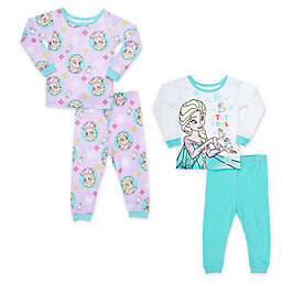 Disney® 4-Piece Frozen Pajama Top and Pant Set in Blue