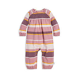 Burt's Bees Baby® Organic Cotton Autumn Sky Stripe Smocked Coverall in Purple