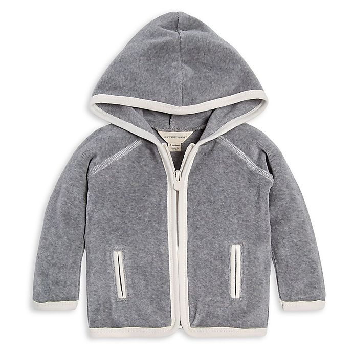Alternate image 1 for Burt's Bees Baby® Velour Organic Cotton Jacket in Ivory