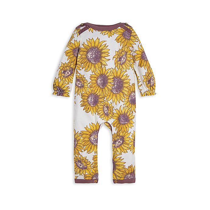 Alternate image 1 for Burt's Bees Baby® Sunflowers Organic Cotton Coverall in Cream