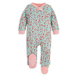 Burt's Bees Baby® Newborn Ditsy Floral Organic Cotton Footie in Mint