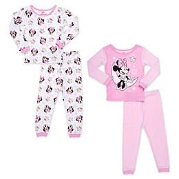 Disney® 4-Piece Minnie Moon Toddler Pajama Set in Pink
