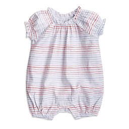 aden + anais® Size 0-3M Striped Short Sleeve Romper in Pink