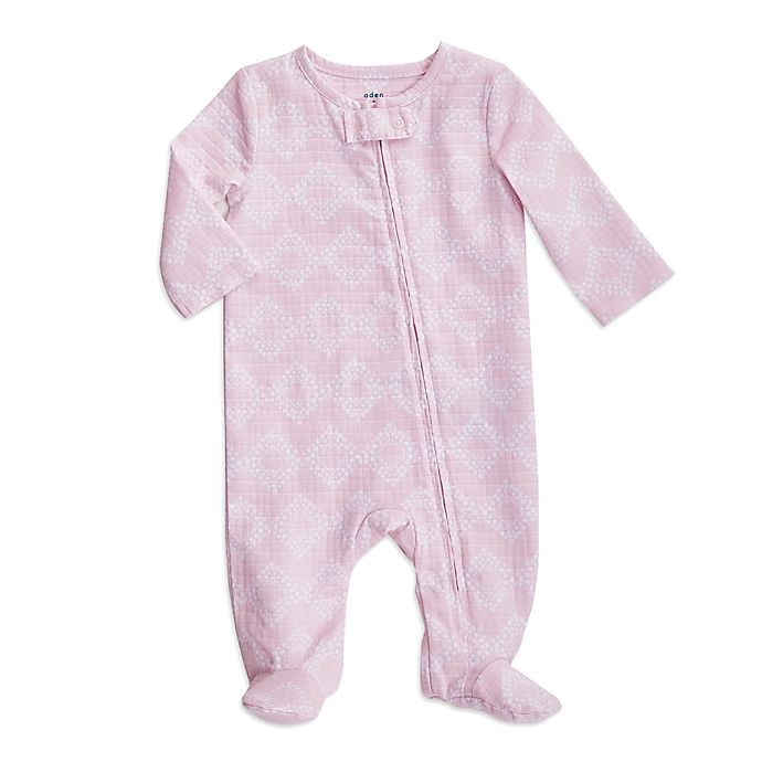 Alternate image 1 for aden + anais® Ziggy Long Sleeve Footie in Pink