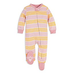 Burt's Bees Baby® Organic Cotton Sleep and Play Footie in Pink/Yellow