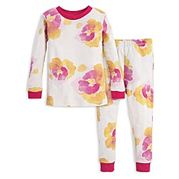Burt's Bees Baby® 2-Piece Exploded Pansies Organic Cotton Toddler Pajama Set