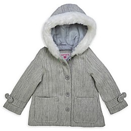 carter's® Faux Fur-Trimmed Toddler Jacket in Grey