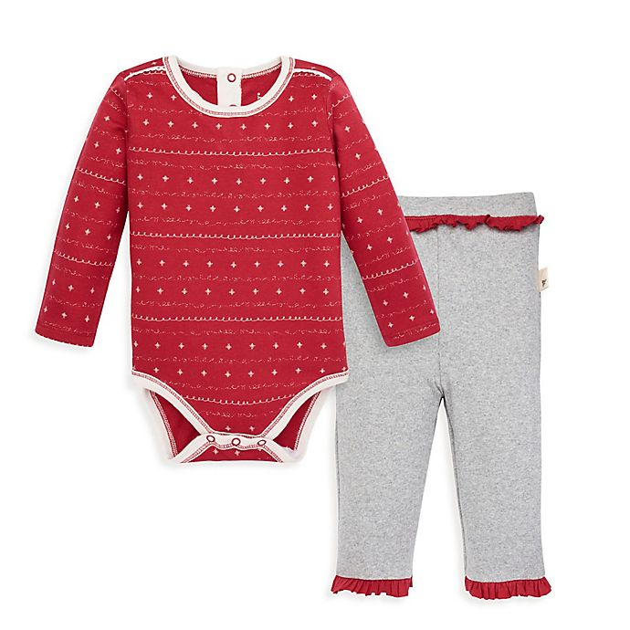 Alternate image 1 for Burt's Bees Baby® 2-Piece Sweet Winter Organic Cotton Bodysuit and Pant Set