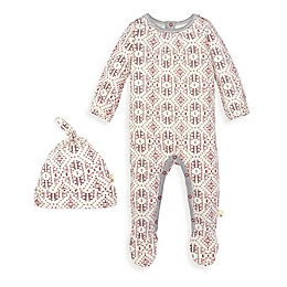 Burt's Bees Baby® 2-Piece Joyful Fair Isle Organic Cotton Jumpsuit and Hat Set