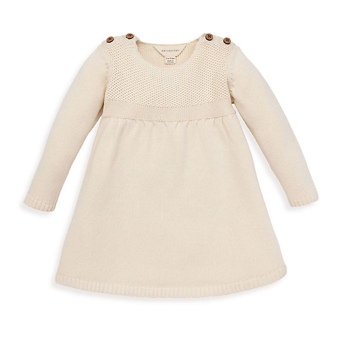 Alternate image 1 for Burt's Bees Baby® Organic Cotton Sweater Dress in Ivory