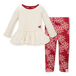 Burt's Bees Baby® Snowflake Thermal Ruffled Tunic and Legging Set