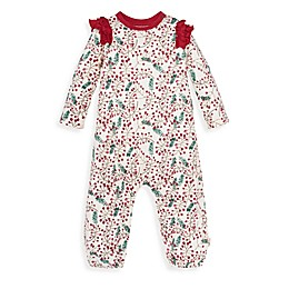 Burt's Bees Baby® Verry Berry Holiday Coverall in Cranberry