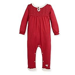 Burt's Bees Baby® Crochet Lace Coverall in Cranberry