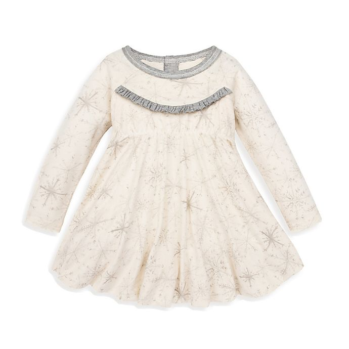 Alternate image 1 for Burt's Bees Baby® Blizzard Bliss Bubble Holiday Dress