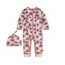 Burt's Bees Baby® Preemie 2-Piece Poppy Organic Cotton Coverall and Cap Set