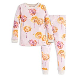 Burt's Bees Baby® 2-Piece Fall Foliage Organic Cotton Toddler Pajama Set in Pink