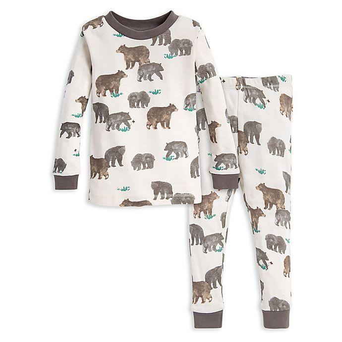 Alternate image 1 for Burt's Bees Baby® 2-Piece Bears Shirt and Pant Pajama Set