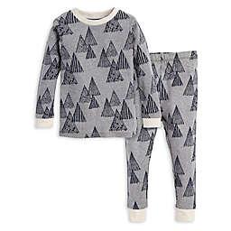 Burt's Bees Baby® 2-Piece Peaks Shirt and Pant Pajama Set