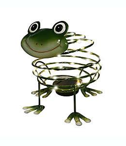 Adorno para jardín Destination Summer con forma de rana